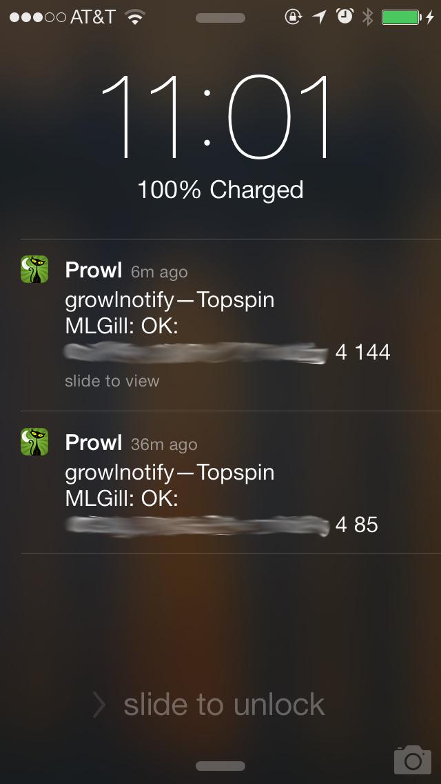 """""""Prowl Status Updates"""""""